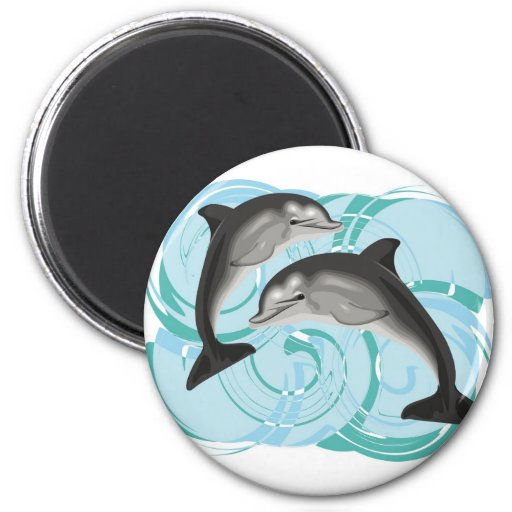 Ejemplo del delfín iman de nevera