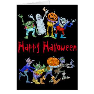 Ejemplo del dibujo animado de un Halloween Congo Tarjeta