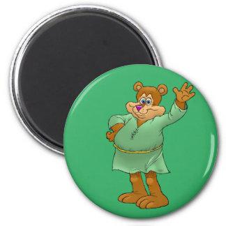 Ejemplo del dibujo animado de un oso que agita imán