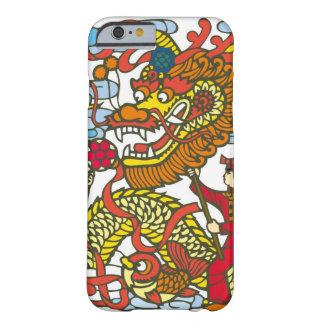 Ejemplo del dragón chino en nuevo chino funda para iPhone 6 barely there