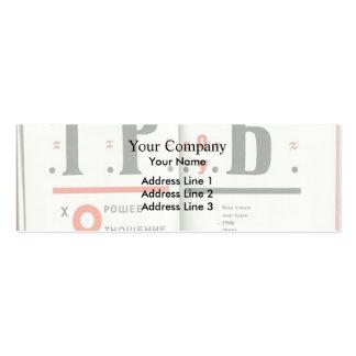 Ejemplo del EL Lissitzky- a 'para el voice Tarjetas De Visita