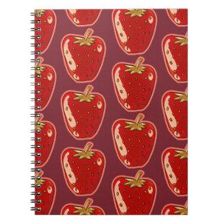 ejemplo del estilo del dibujo animado de la fresa cuaderno
