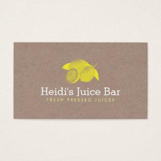 Ejemplo del estilo del vintage de limones en la tarjeta de negocios