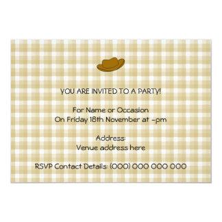 Ejemplo del gorra de vaquero. Brown Invitación Personalizada