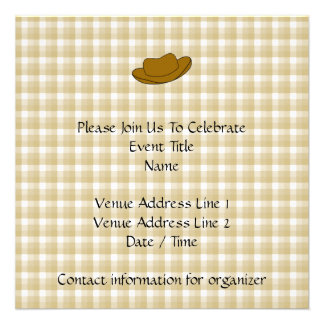 Ejemplo del gorra de vaquero Brown Comunicado Personal