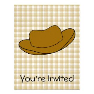 Ejemplo del gorra de vaquero Brown Comunicados Personales