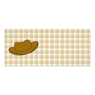 Ejemplo del gorra de vaquero Brown Anuncios