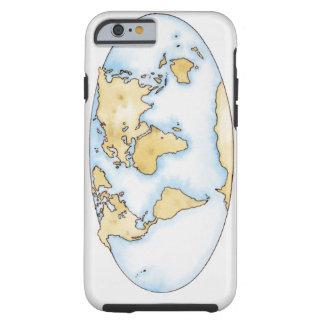 Ejemplo del mapa del mundo funda para iPhone 6 tough