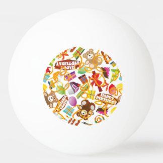 Ejemplo del modelo del feliz cumpleaños pelota de ping pong