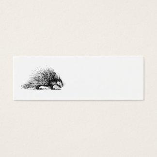 Ejemplo del puerco espín del vintage - puercos tarjeta de visita pequeña