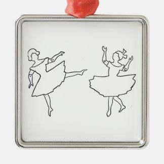 Ejemplo del recorte de los bailarines adorno de cerámica