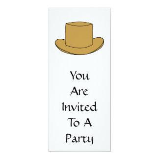 Ejemplo del sombrero de copa. Brown Invitación 10,1 X 23,5 Cm