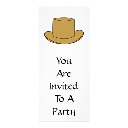Ejemplo del sombrero de copa. Brown Invitacion Personal