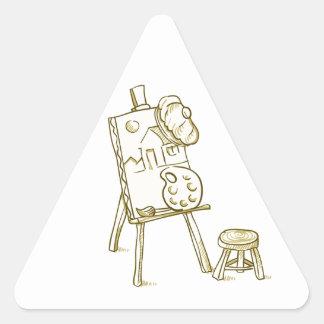 Ejemplo del tablero del arte pegatina triangular