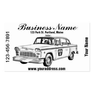 Ejemplo del taxi del inspector tarjetas personales