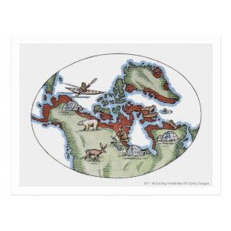 Ejemplo del territorio del Inuit Postal