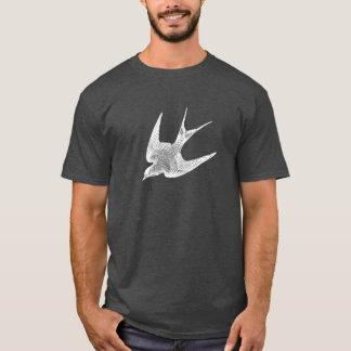 Ejemplo del trago del vintage - pájaro antiguo camiseta