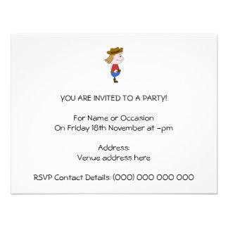 Ejemplo del vaquero invitación