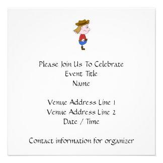 Ejemplo del vaquero invitaciones personalizada