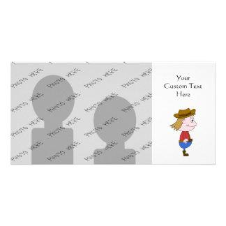 Ejemplo del vaquero tarjeta fotografica personalizada