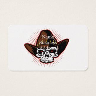 Ejemplo del vector del cráneo del vaquero tarjeta de negocios