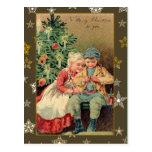 Ejemplo del Victorian en tarjetas de Navidad Tarjetas Postales