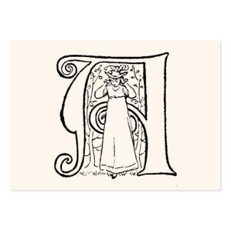 Ejemplo del vintage de la letra A Plantillas De Tarjetas Personales