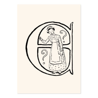 Ejemplo del vintage de la letra E Tarjetas De Visita Grandes