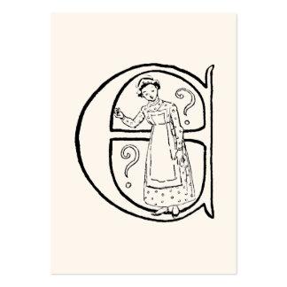 Ejemplo del vintage de la letra E Plantillas De Tarjetas Personales
