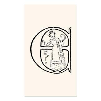 Ejemplo del vintage de la letra E Tarjeta De Negocio
