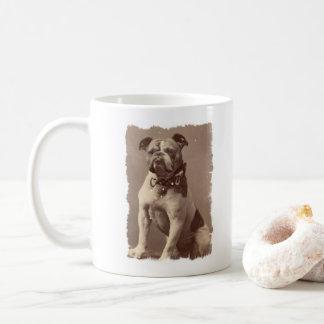 Ejemplo del vintage de la taza de café del dogo