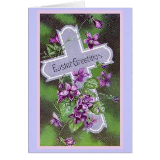 Ejemplo del vintage de los saludos de Pascua Tarjeta De Felicitación