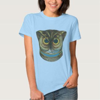 Ejemplo del vintage del búho de la camiseta
