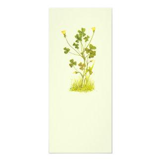 Ejemplo del vintage del Madera-Alazán amarillo Invitación 10,1 X 23,5 Cm
