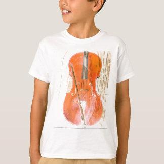Ejemplo del violoncelo en tonos marrones neutrales camiseta