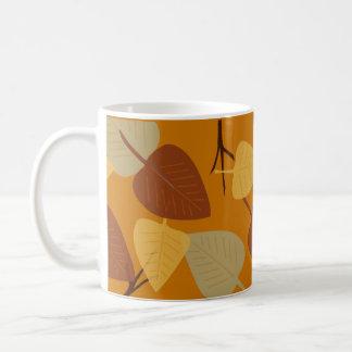 Ejemplo dispersado moderno del otoño de las hojas tazas