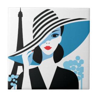 Ejemplo elegante francés de la moda de la moda de azulejo cuadrado pequeño
