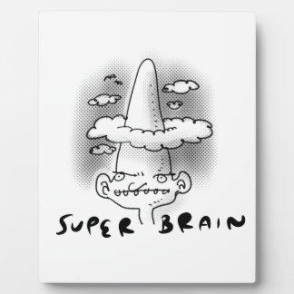ejemplo estupendo del estilo del dibujo animado placa expositora