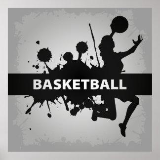 Ejemplo fresco del baloncesto póster