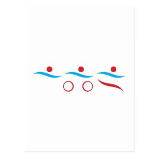 Ejemplo fresco del logotipo del Triathlon Postal