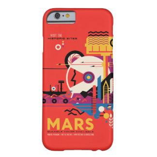 Ejemplo futurista del viaje espacial de Marte Funda Barely There iPhone 6