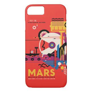 Ejemplo futurista del viaje espacial de Marte Funda iPhone 7