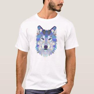 Ejemplo geométrico del lobo camiseta