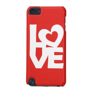 Ejemplo gráfico te amo con el corazón en rojo carcasa para iPod touch 5