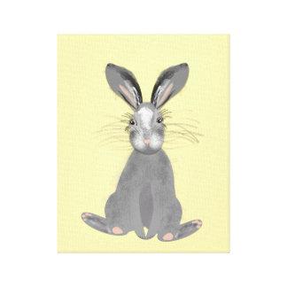 Ejemplo gris lindo de las liebres impresión en lienzo