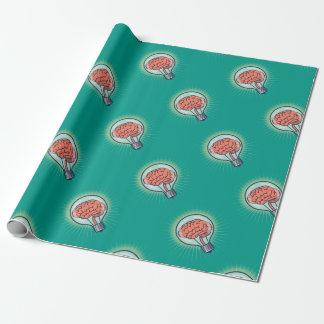 Ejemplo inteligente de la bombilla papel de regalo