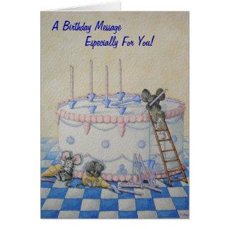 Ejemplo lindo de la original de la torta de cumple felicitacion
