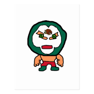 Ejemplo mexicano del dibujo animado del luchador postal