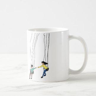 Ejemplo mínimo de pares en un oscilación taza de café