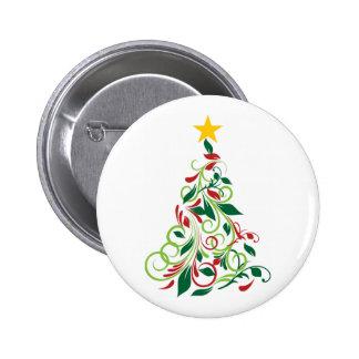 Ejemplo moderno elegante del árbol de navidad pins